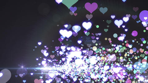 Lens Flares and Particles 16 heart E2f 4k Animation