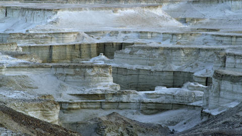 Royalty Free Stock Video Footage of white rock formations shot in Israel at 4k w Footage