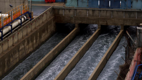 Stock Video Footage of desalination canals at the Mediterranean shot in Israel a Footage