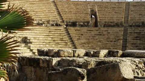 Royalty Free Stock Video Footage of theater at Caesarea shot in Israel at 4k wit Footage