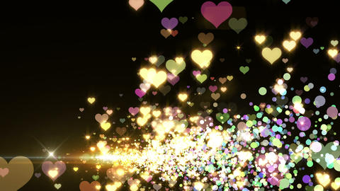 Lens Flares and Particles 16 heart L2f 4k Animation
