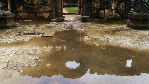Royalty Free Stock Video Footage of the wet floor of the Bar'am ruins shot in Is Footage