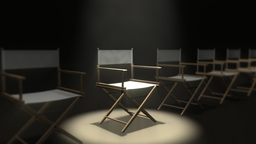 Directors Chair stock footage