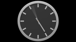 Modern Wall Clock - Spinning (Seamless Loop) Animation