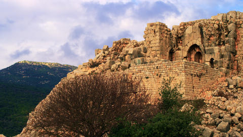 Royalty Free Stock Video Footage of a Nimrod Fortress wall shot in Israel at 4k  Footage