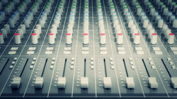 Audio mixing console. (Seamless Loop) Footage