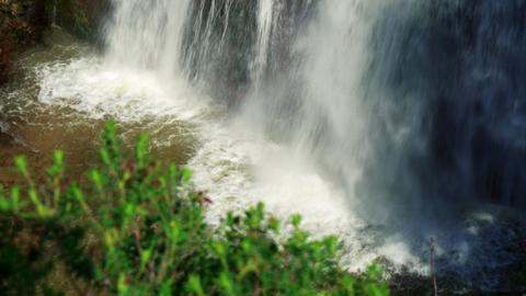 Royalty Free Stock Video Footage of bottom of Tahana Waterfall shot in Israel at Footage