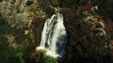 Royalty Free Stock Video Footage of Tahana Waterfall shot in Israel at 4k with R Footage