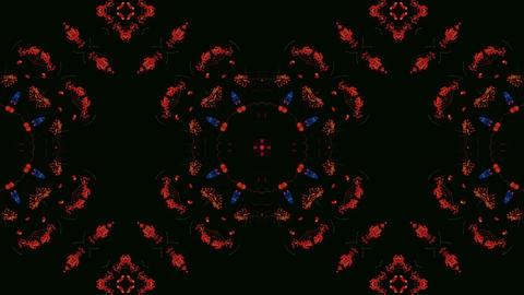 Kaleidoscope 4K, Ethnic patern background, Loop Animation