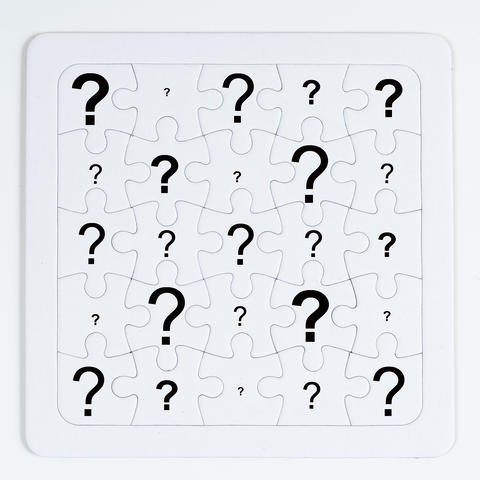 The white puzzle Fotografía