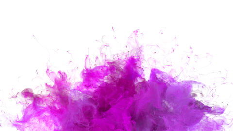 Magenta Pink Color Burst - colorful smoke explosion fluid particles slow motion alpha matte isolated Animation