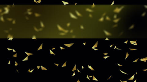 Gold Triangles Background with Banner GIF