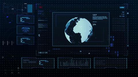 Hud infographics digital HiTech v7 Plantilla de After Effects