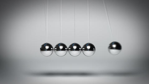 Bouncing Newton's balls against gray background seamless loop GIF