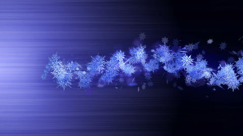 Shinning winter symbol with beauty snowflakes. Vortex... Stock Video Footage
