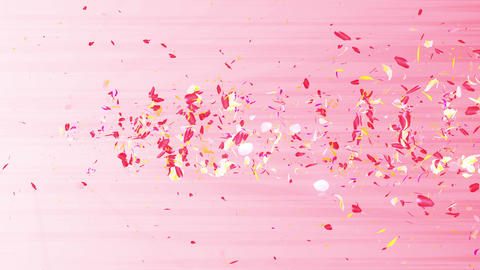 Colorful petals. Spiral shiny petals of blossoms. Flower pattern. Pretty dancing petal. Vortex from Animation