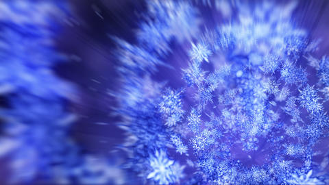 Shinning winter symbol with beauty snowflakes. Vortex from spin snow. Winter pattern. Beauty dancing Animation