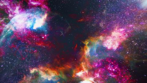 Fly Through In Space 03 Animación