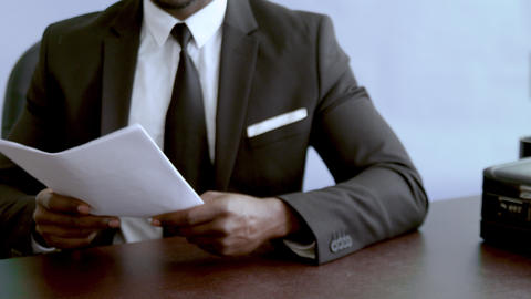 Success commerce business agreement in man hands close up Footage