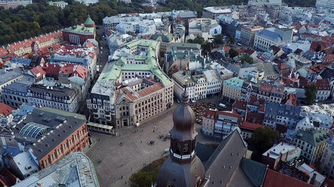 European architecture top view to the rooftops and narrow streets Footage