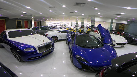 Walking Around luxury cars Footage