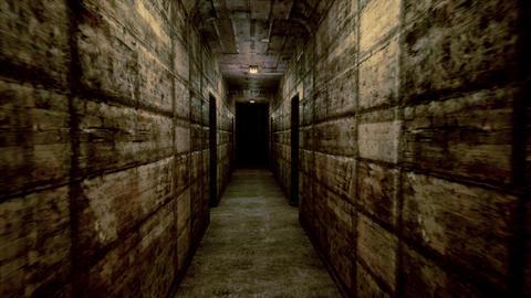 4K Spooky Lunatic Sanitarium Corridor Cinematic 3D Animation Animation