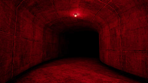 4K Scary Concrete Tunnel Leading into Dark Cinematic 3D Animation Animation