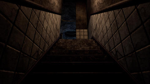 4K Spooky Staircase Cinematic 3D Animation Animation