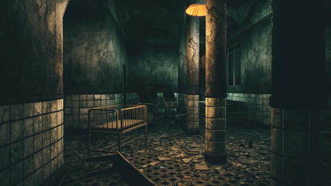 4K Horror Sanitarium Cinematic 3D Animation Animation