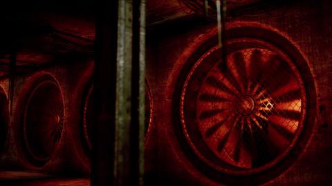 4K Industrial Massive Ventilation System Fans Cinematic 3D Animation Animation