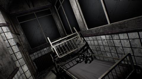 4K Freaky Demolsihed Asylum Corridor POV Cinematic 3D Animation Animation