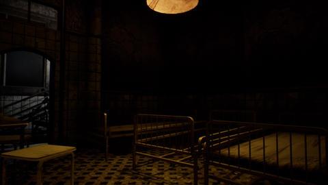 4K Scary Dark Abandoned Hospital Room Cinematic 3D Animation Animation