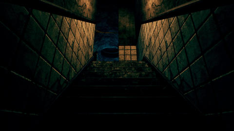 4K Scary Staircase Cinematic 3D Animation Animation