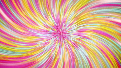 Colorful Twirling Rays Background Animation