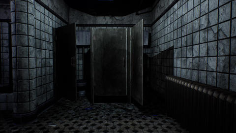 4K Scary Toilet Door Opens Cinematic 3D Animation Animation