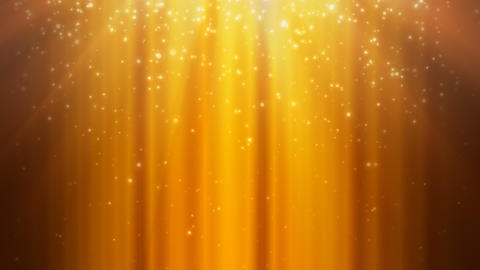 Golden Rays and Falling Particles Animation