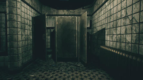 4K Spooky Toilet Door Opens Cinematic 3D Animation Animation