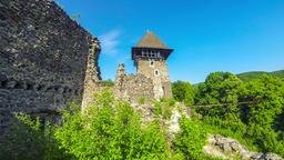 Nevytske Castle, semi-ruined castle near Uzhhorod, Ukraine GIF