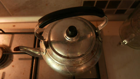 4K Old Retro Water Boiler Stock Video Footage