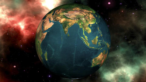 Earth Transforming to a Dead Planet Global Warming Concept Animation