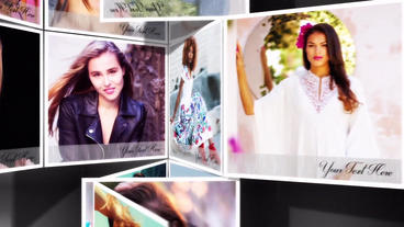 Folding multi photos slideshow After Effects Template