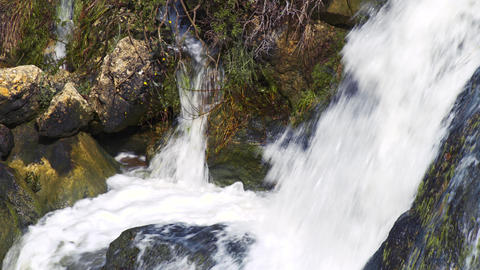 Royalty Free Stock Video Footage of the bottom of a waterfall shot in Israel at  Footage
