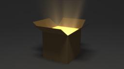 Opening Magic Card Board Box Animation