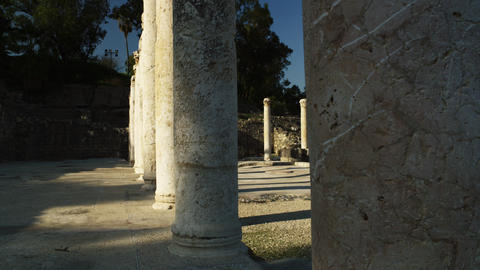 Royalty Free Stock Video Footage of ancient columns shot in Israel at 4k with Re Footage