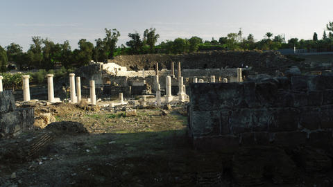 Royalty Free Stock Video Footage of ruins at Beit She'an shot in Israel at 4k wi Footage