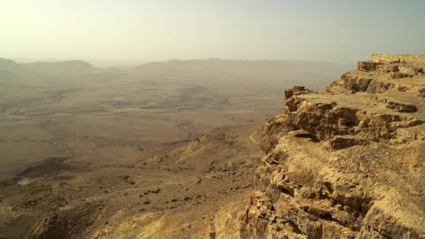 Royalty Free Stock Video Footage of Makhtesh Ramon crater shot in Israel at 4k w Footage