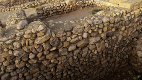 Stock Video Footage of an ancient wall at Tel Be'er Sheva shot in Israel at 4k w Footage