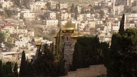 Royalty Free Stock Video Footage of the Church of Maria Magdalene filmed in Isra Footage