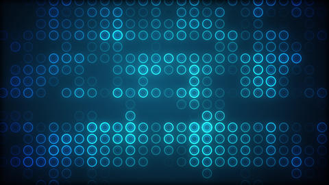 Visualization of a grid of blue circles fading in and out Animation
