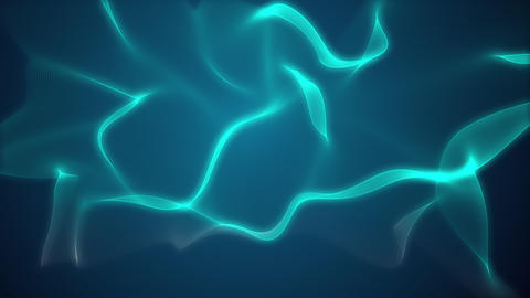 Visualization of an object moving on a green blue background Animation